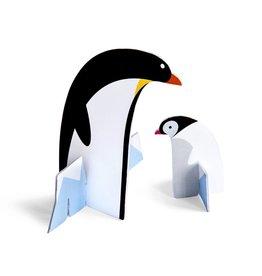 3D kaart pinguïns