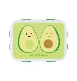 Brooddoos met clip avocado