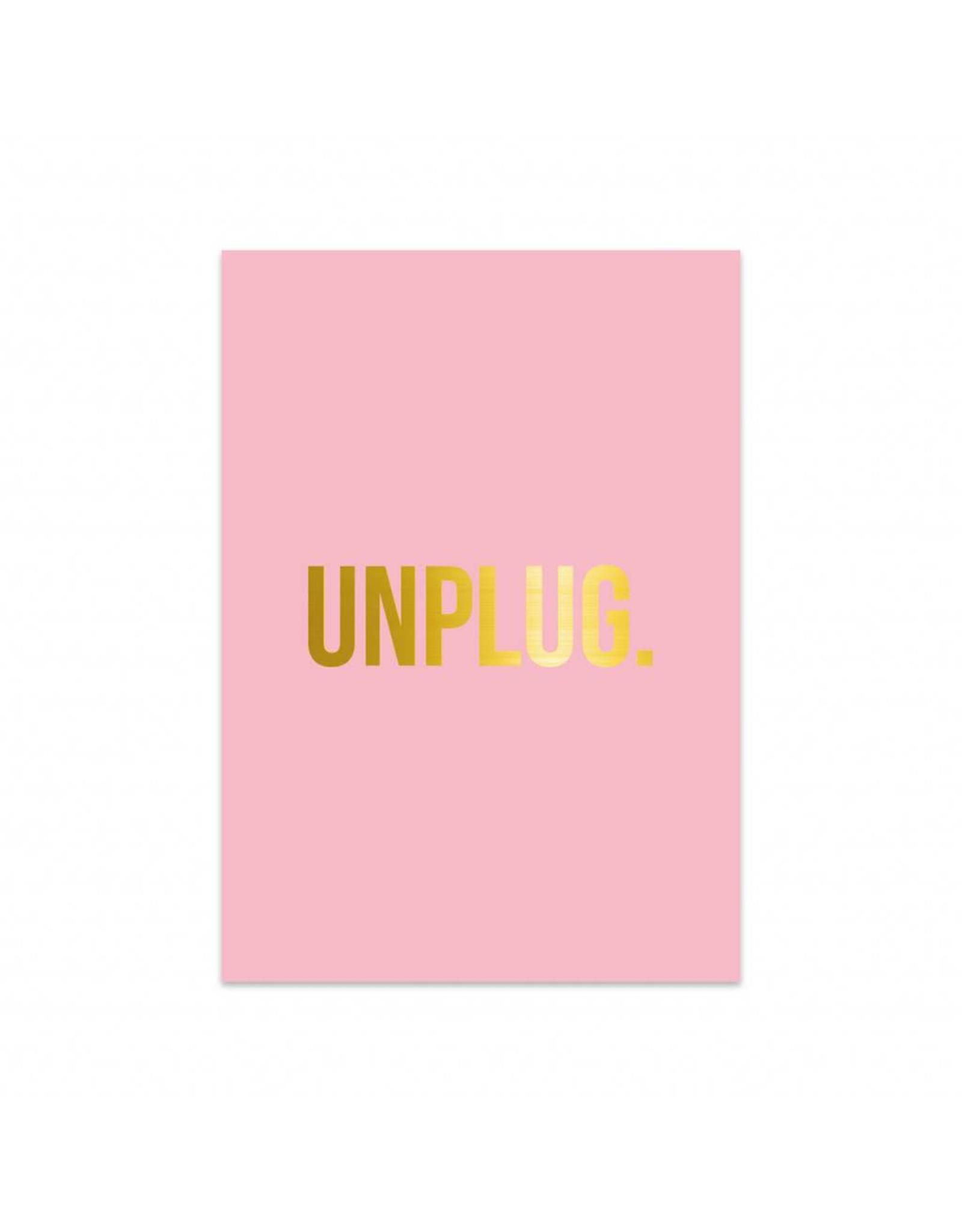 Postkaart UNPLUG