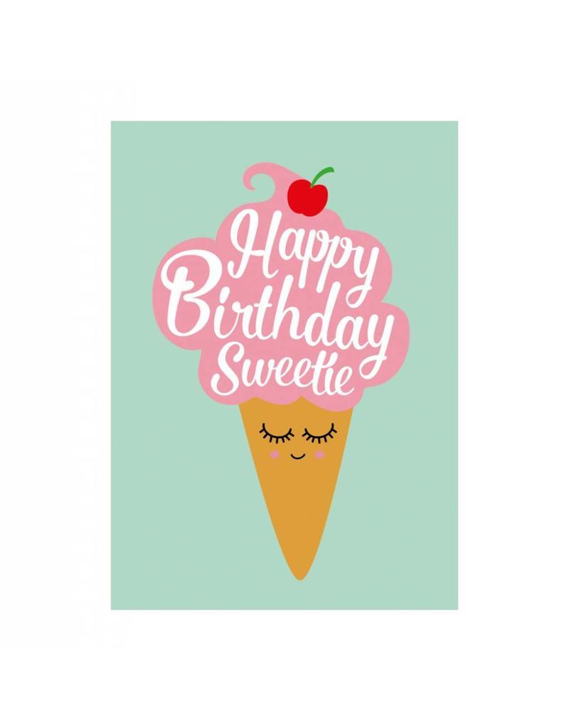 Postkaart Happy Birthday Sweetie