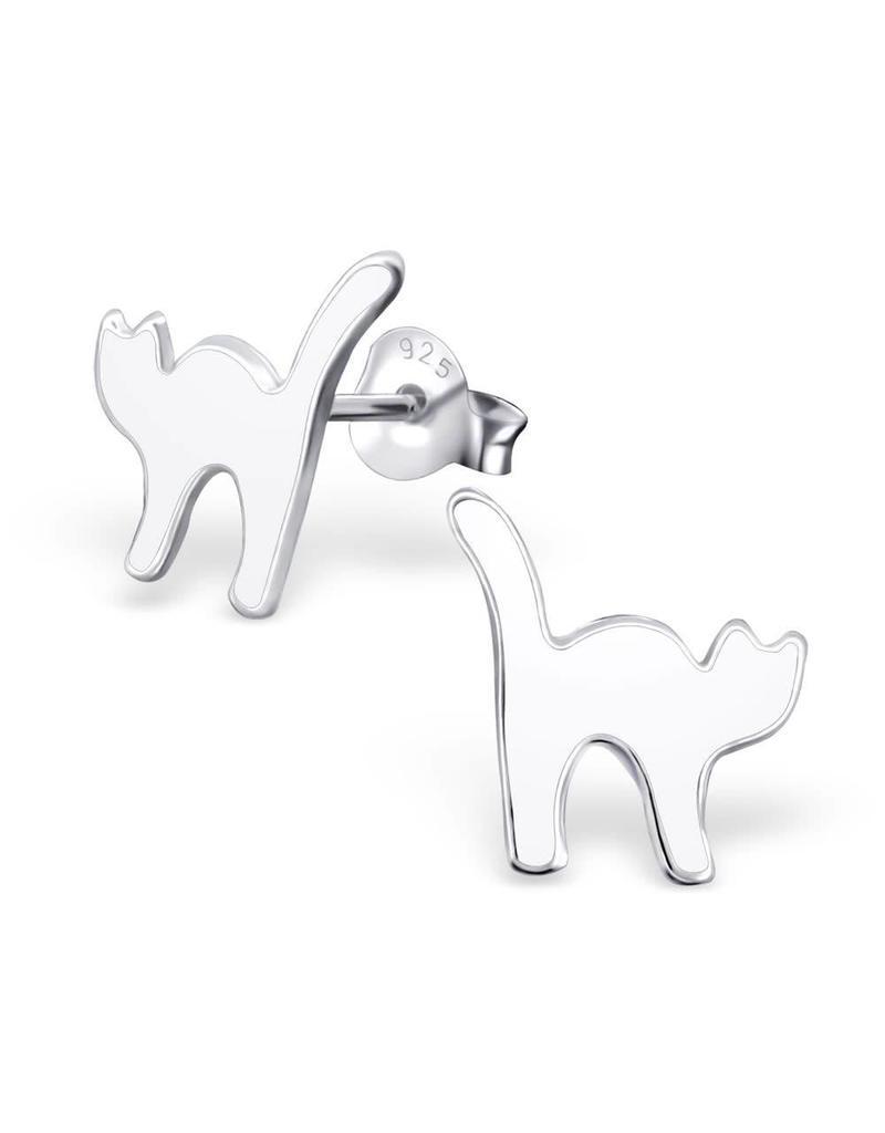 Stekertjes zilver kat wit