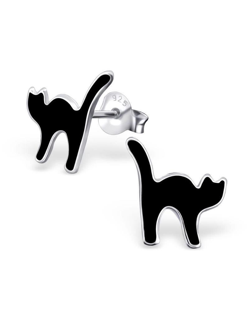 Stekertjes zilver kat zwart
