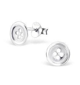 Stekertjes zilver knoopje