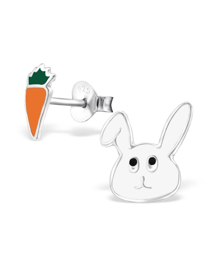 Stekertjes zilver konijn & wortel