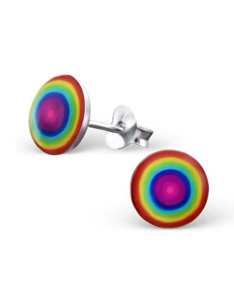 Stekertjes zilver regenboog rond