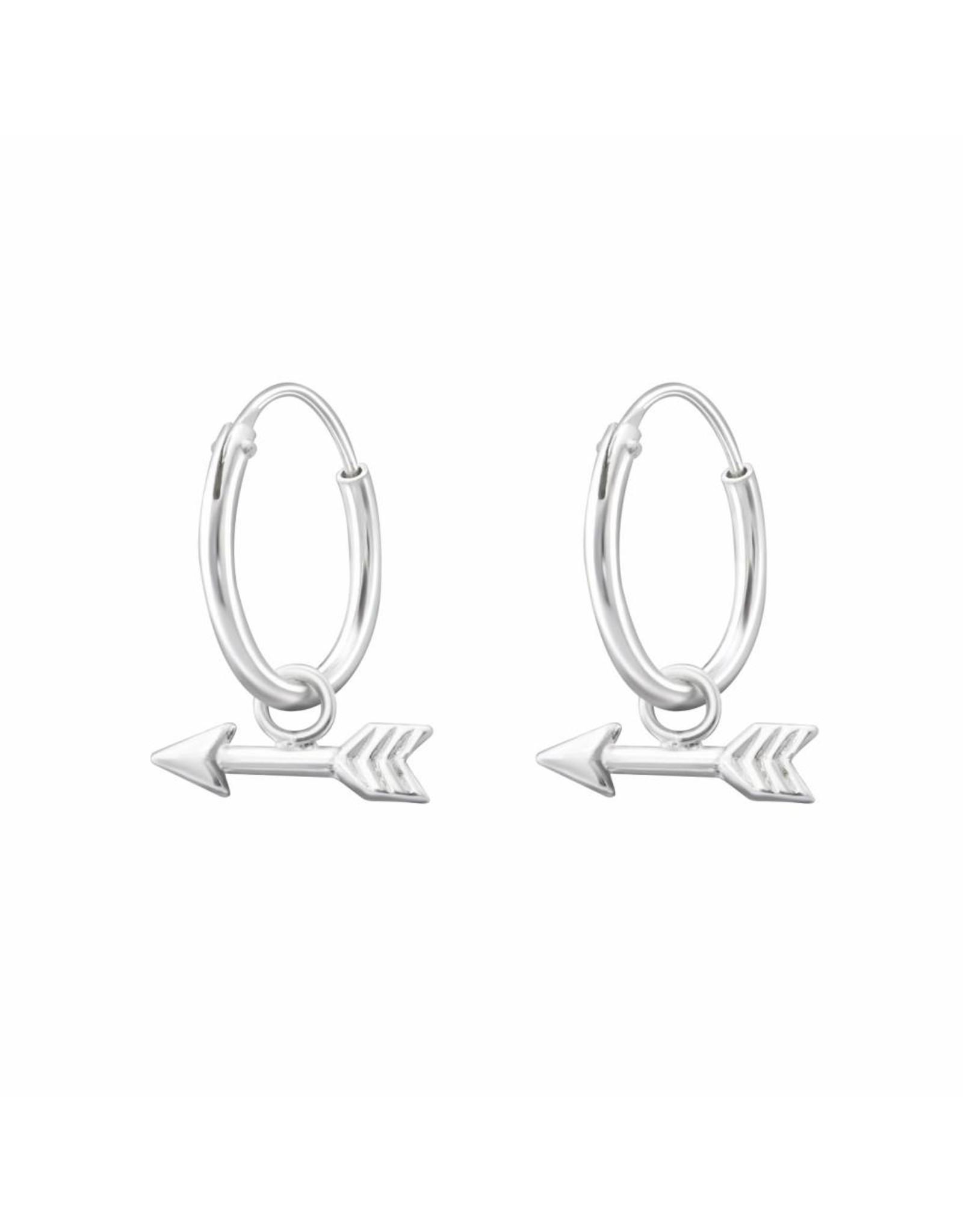 Ringetjes zilver pijl