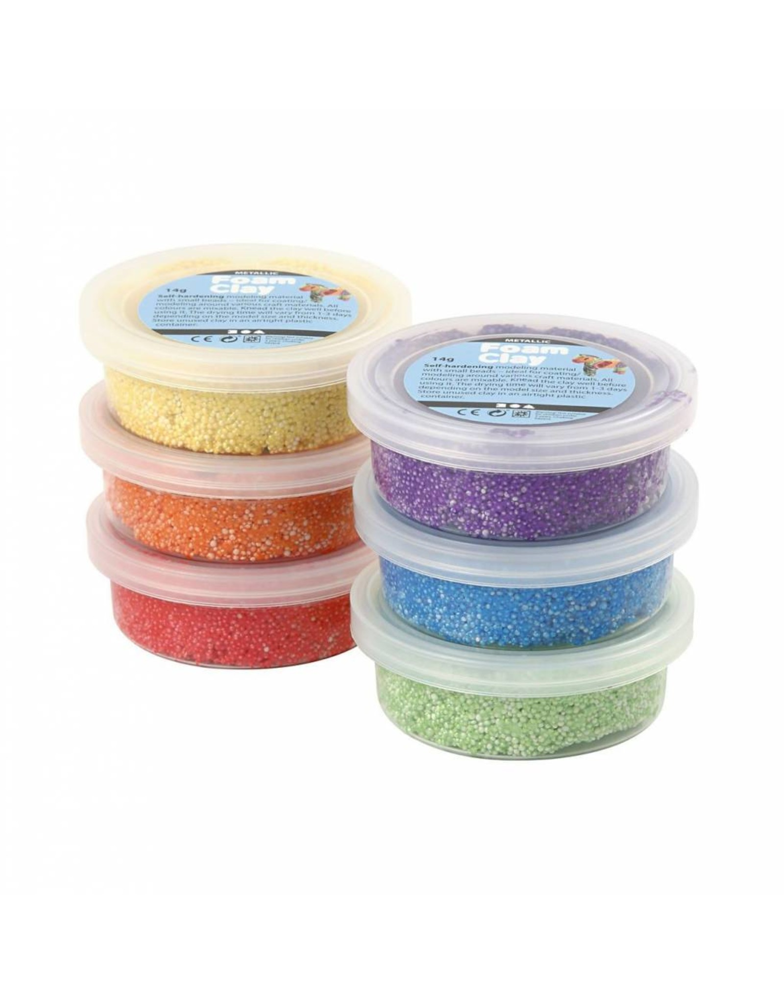 Foam Clay® 6x14g metallic kleur