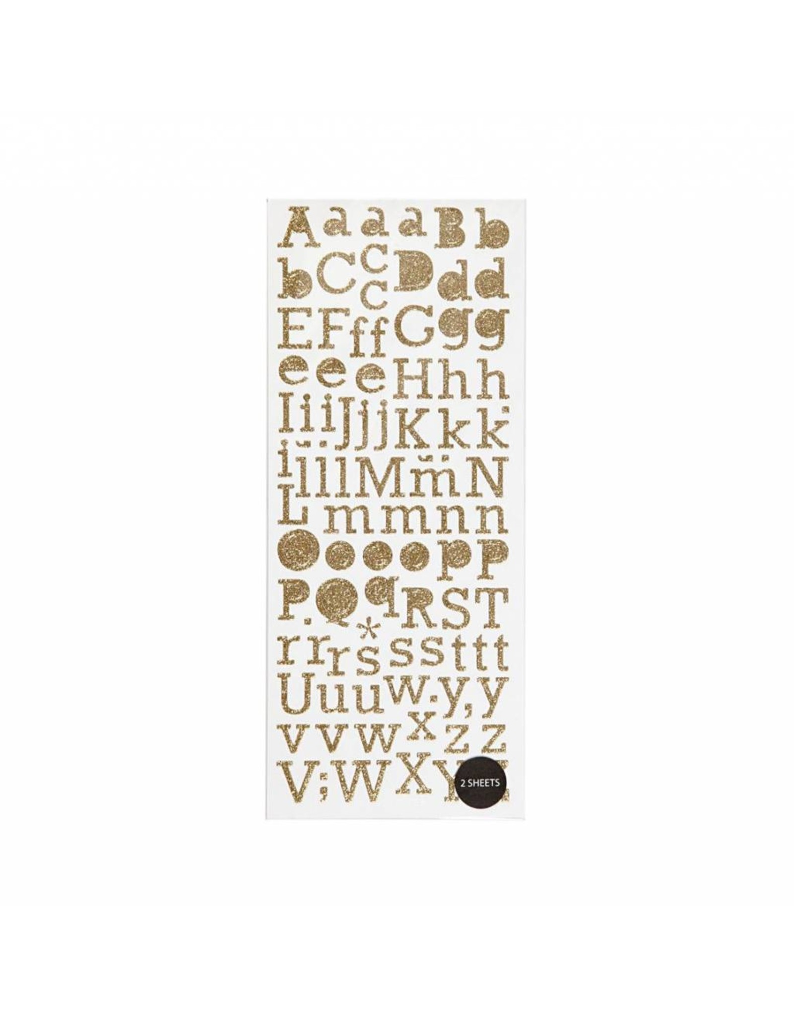 Stickers alfabet goud