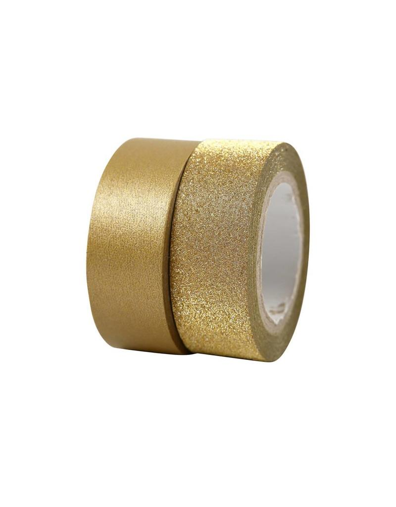 Washi tape set goud