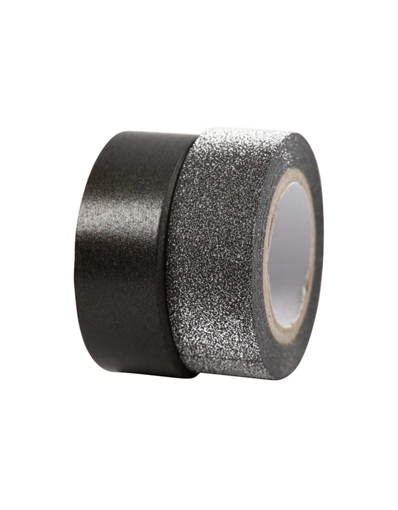 Washi tape set zwart
