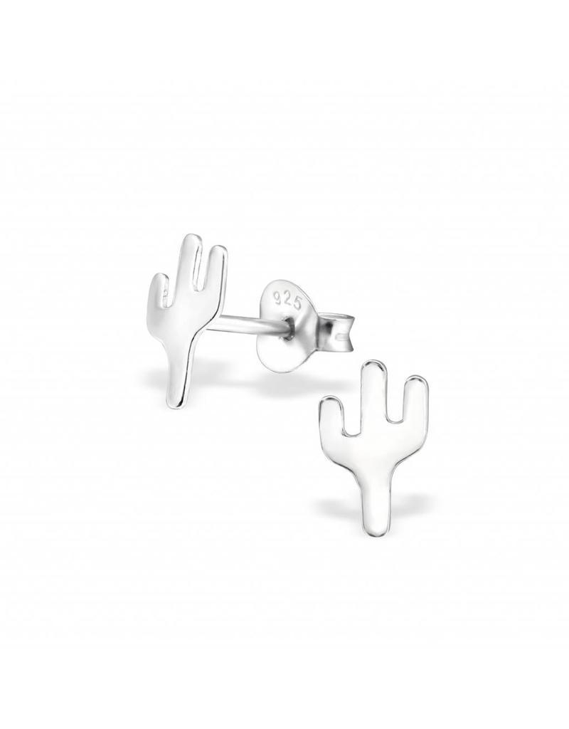 Stekertjes zilver cactus