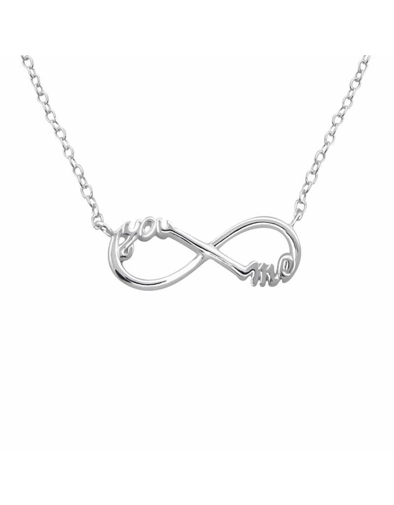 Hangertje zilver infinity me&you