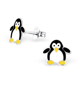 Stekertjes zilver pinguïn groot