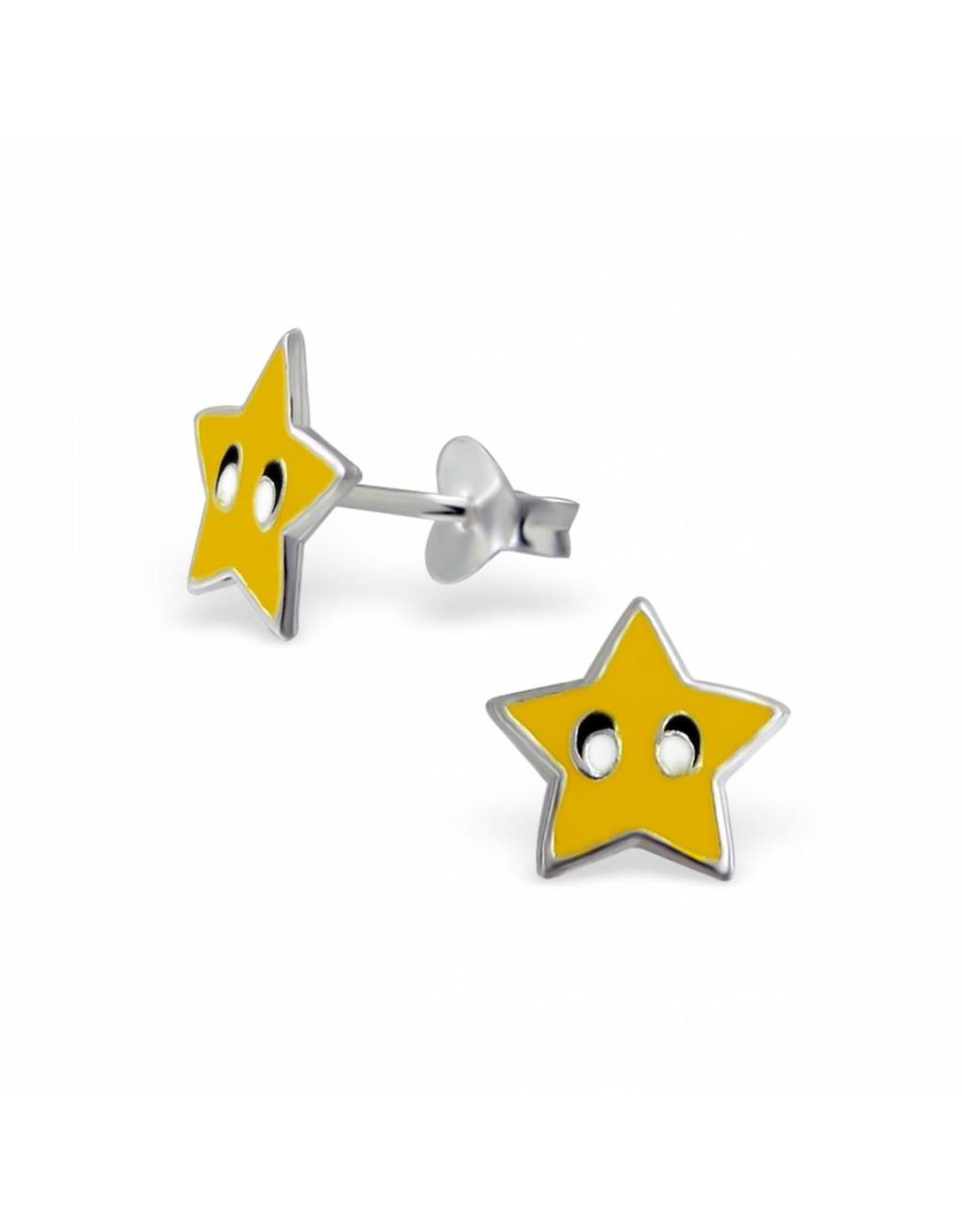 Stekertjes zilver ster geel