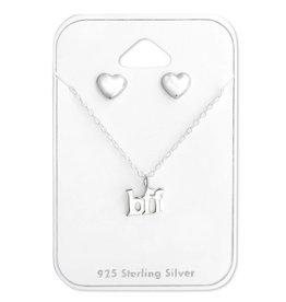 Stekertjes & hangertje zilver bff