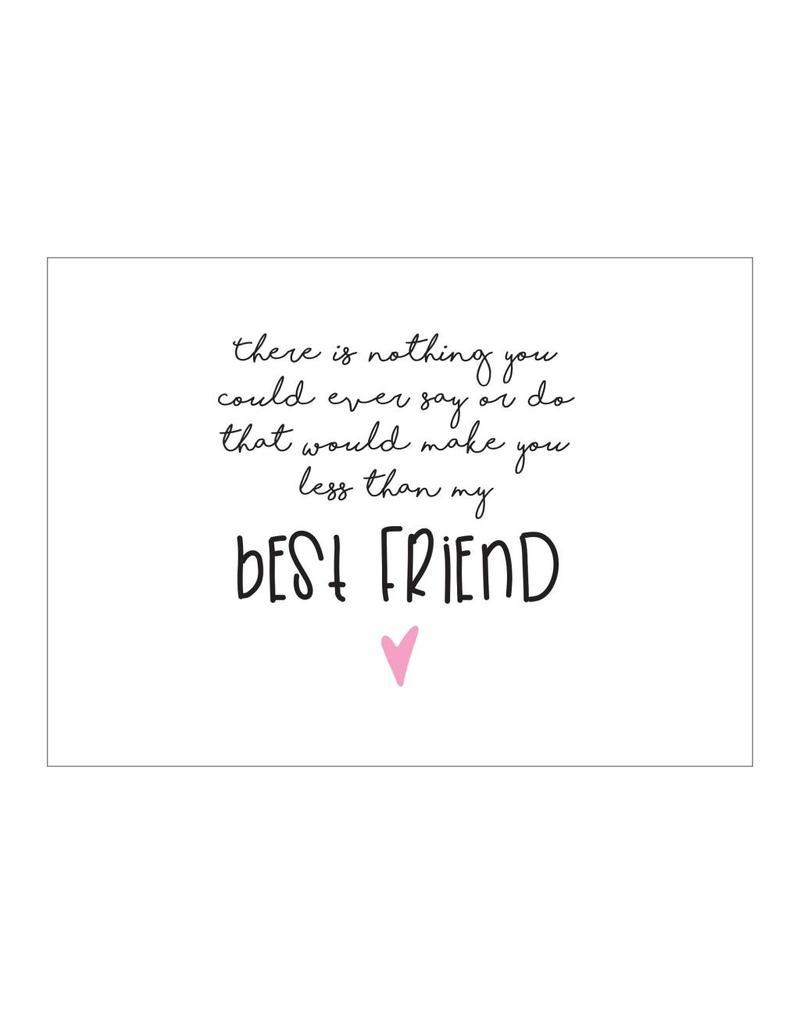 postkaart Best friend