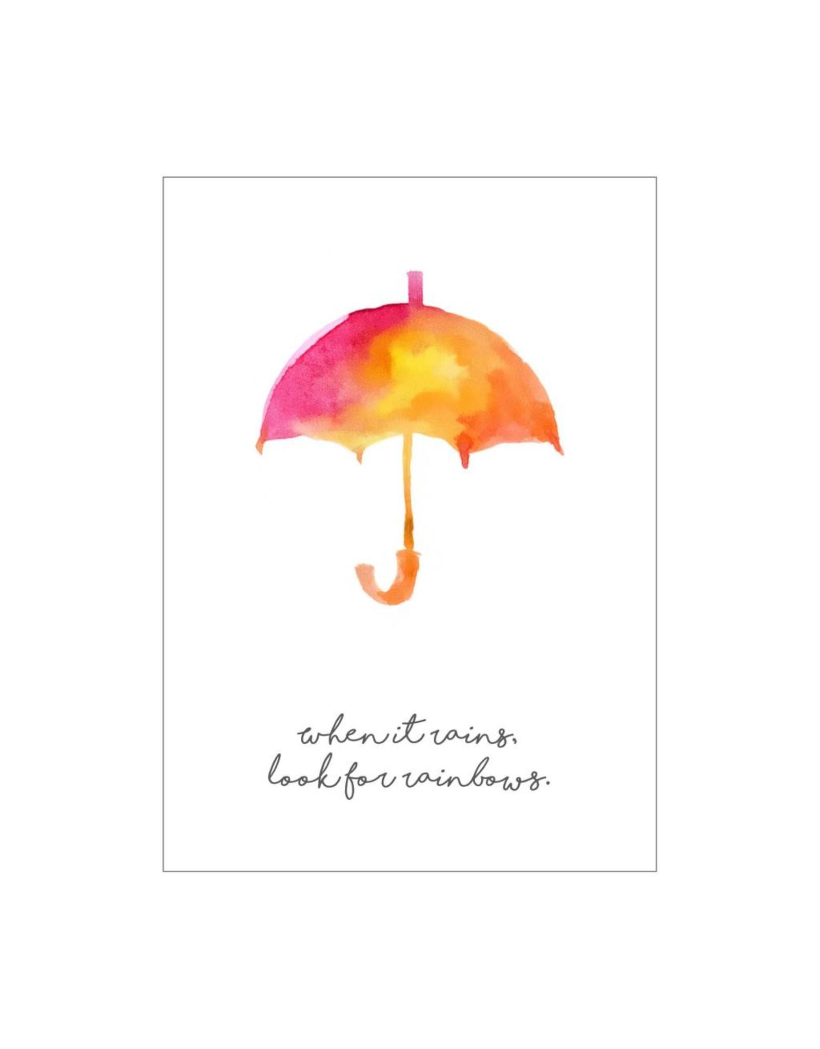 postkaart When it rains