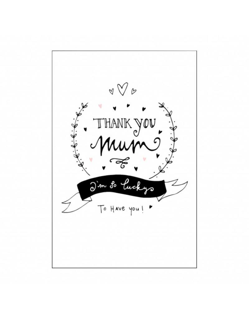 postkaart Thank you mum