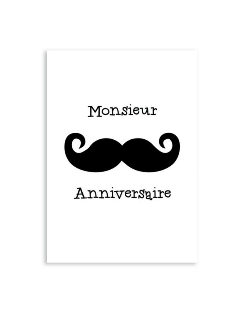 postkaart Monsieur Anniversaire