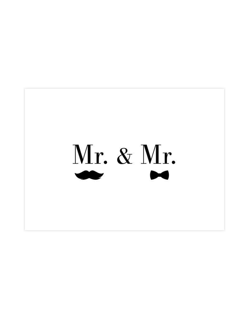Postkaart Mr. & Mr.