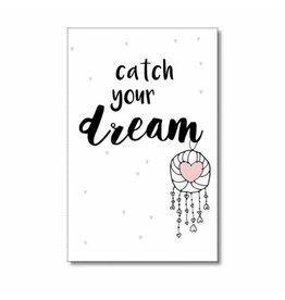 Mini kaartje Catch your dream