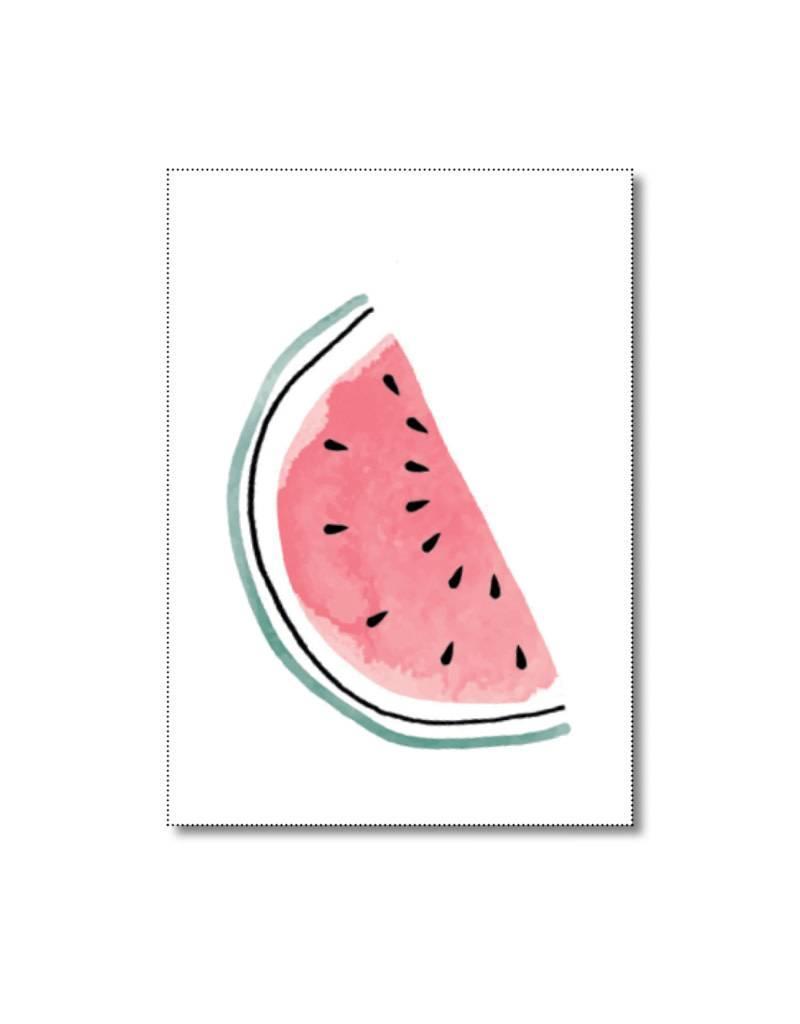 Mini kaartje watermeloen