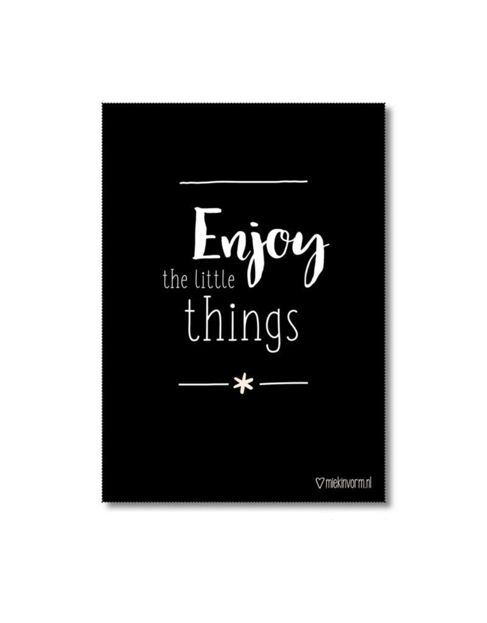 Poster A4 Enjoy the little things