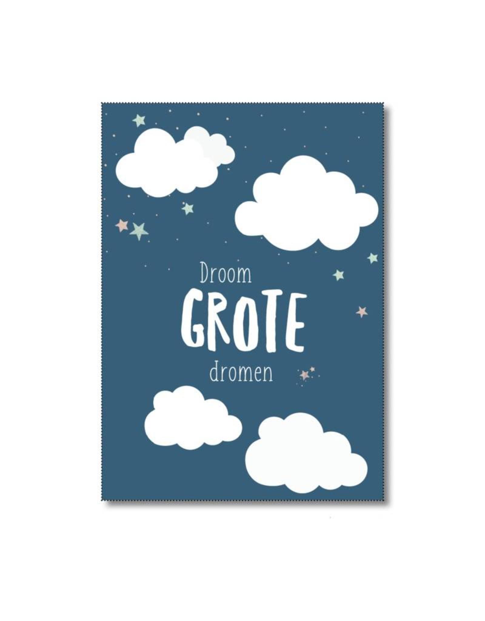 Postkaart Droom grote dromen