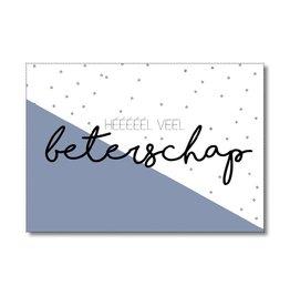Postkaart Héééééél veel beterschap