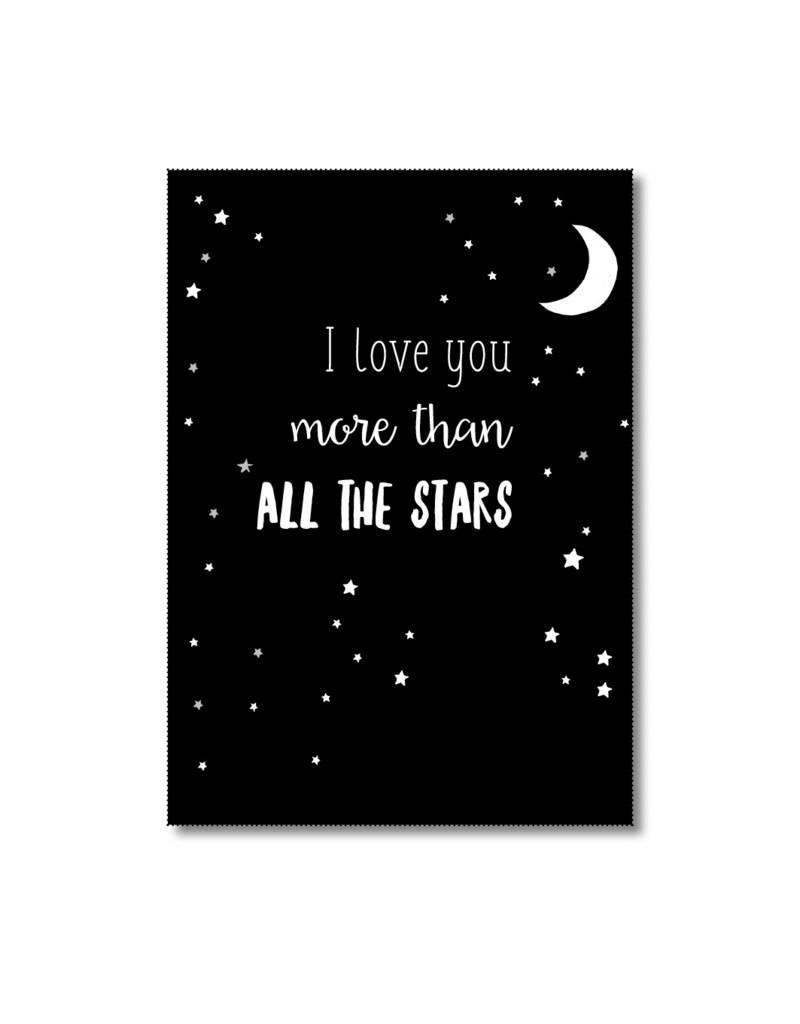 Postkaart I love you more than al the stars
