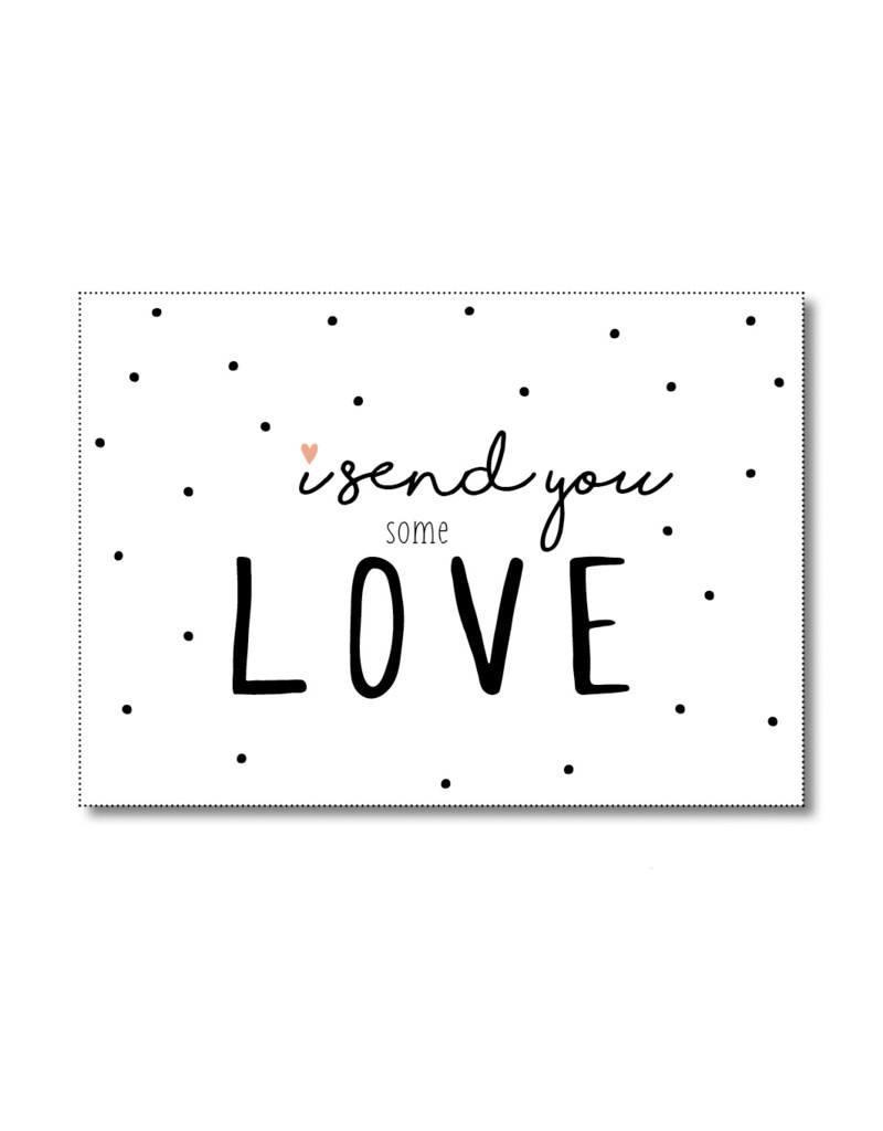 Postkaart I send you some love