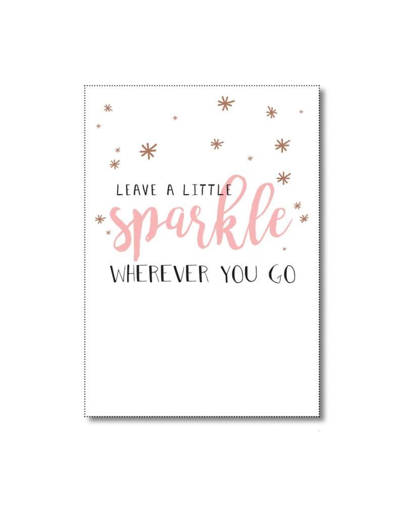 Postkaart Leave a little sparkle wherever you go