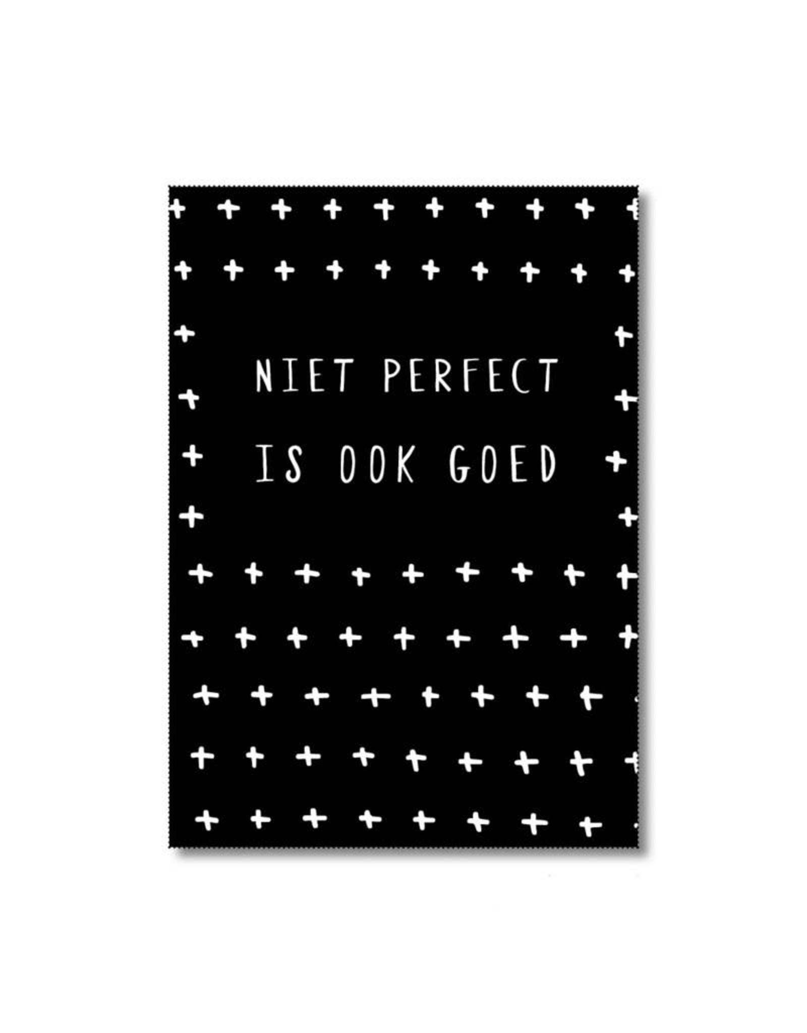 Postkaart Niet perfect is ook goed