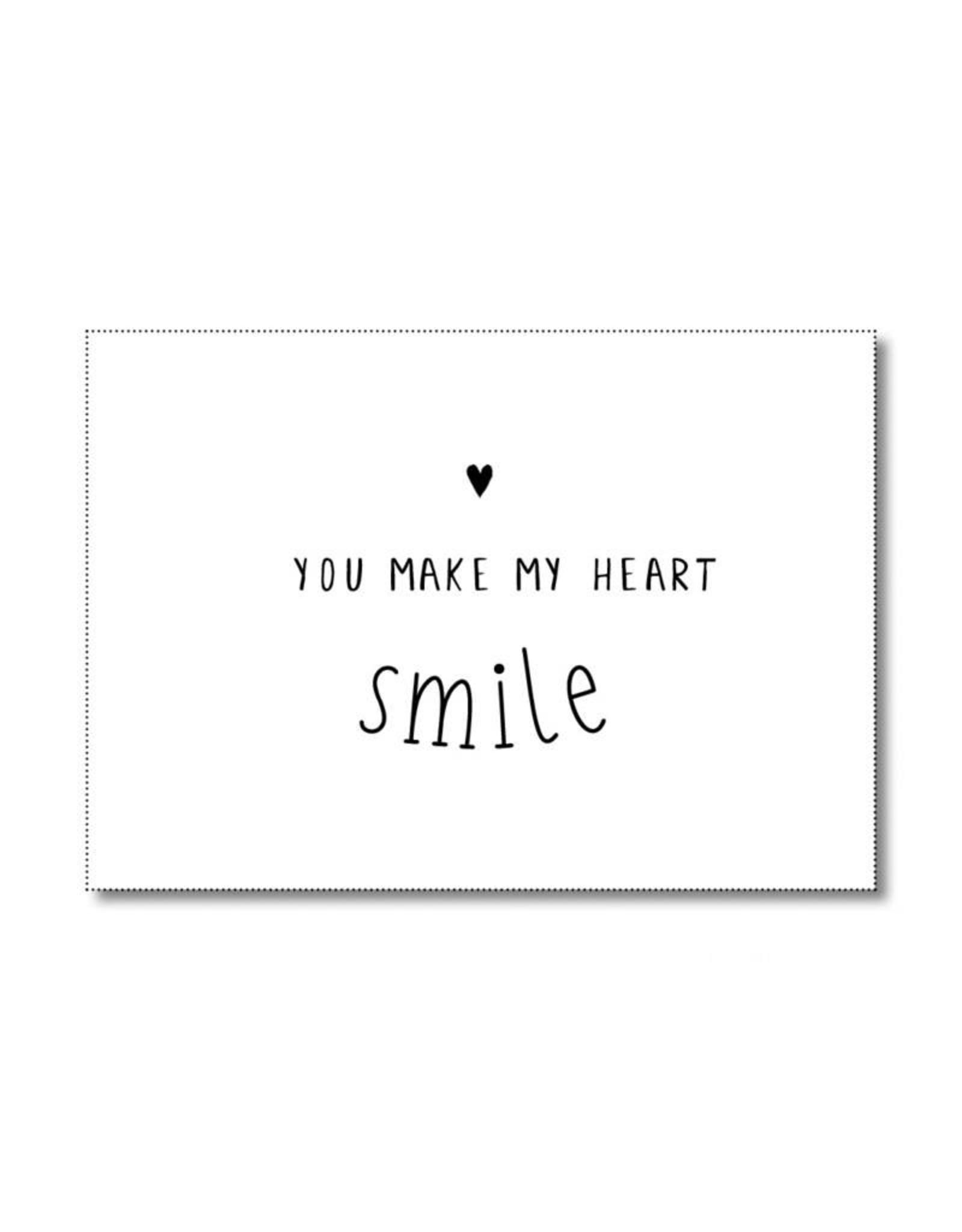 Postkaart You Make my heart smile