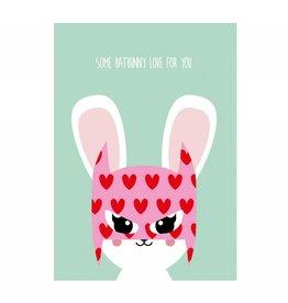 postkaart Some Batbunny love for you
