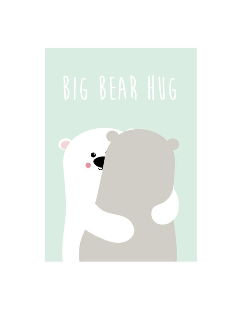 Postkaart Big bear hug