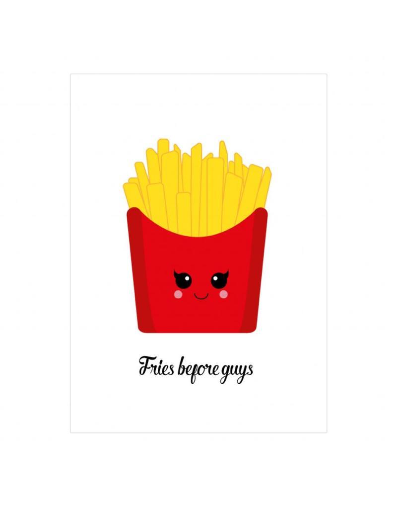 postkaart Fries before guys