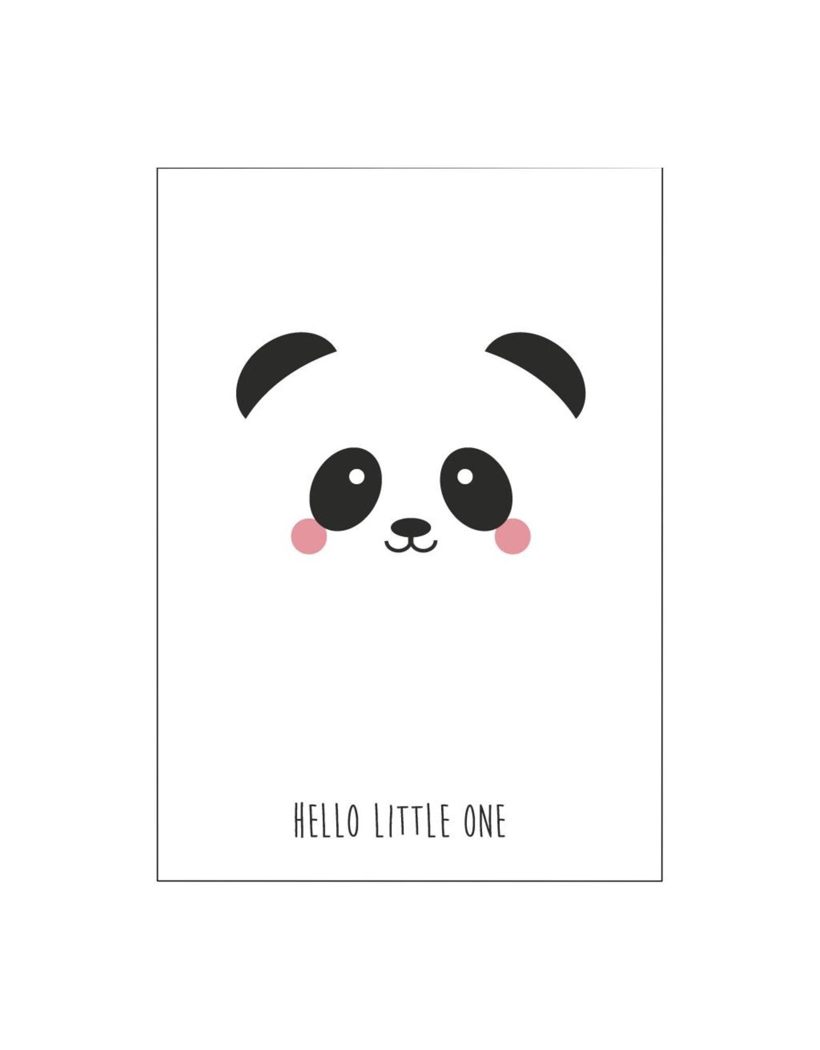 postkaart Hello little one panda