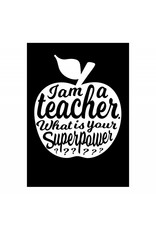 postkaart Teacher zwart
