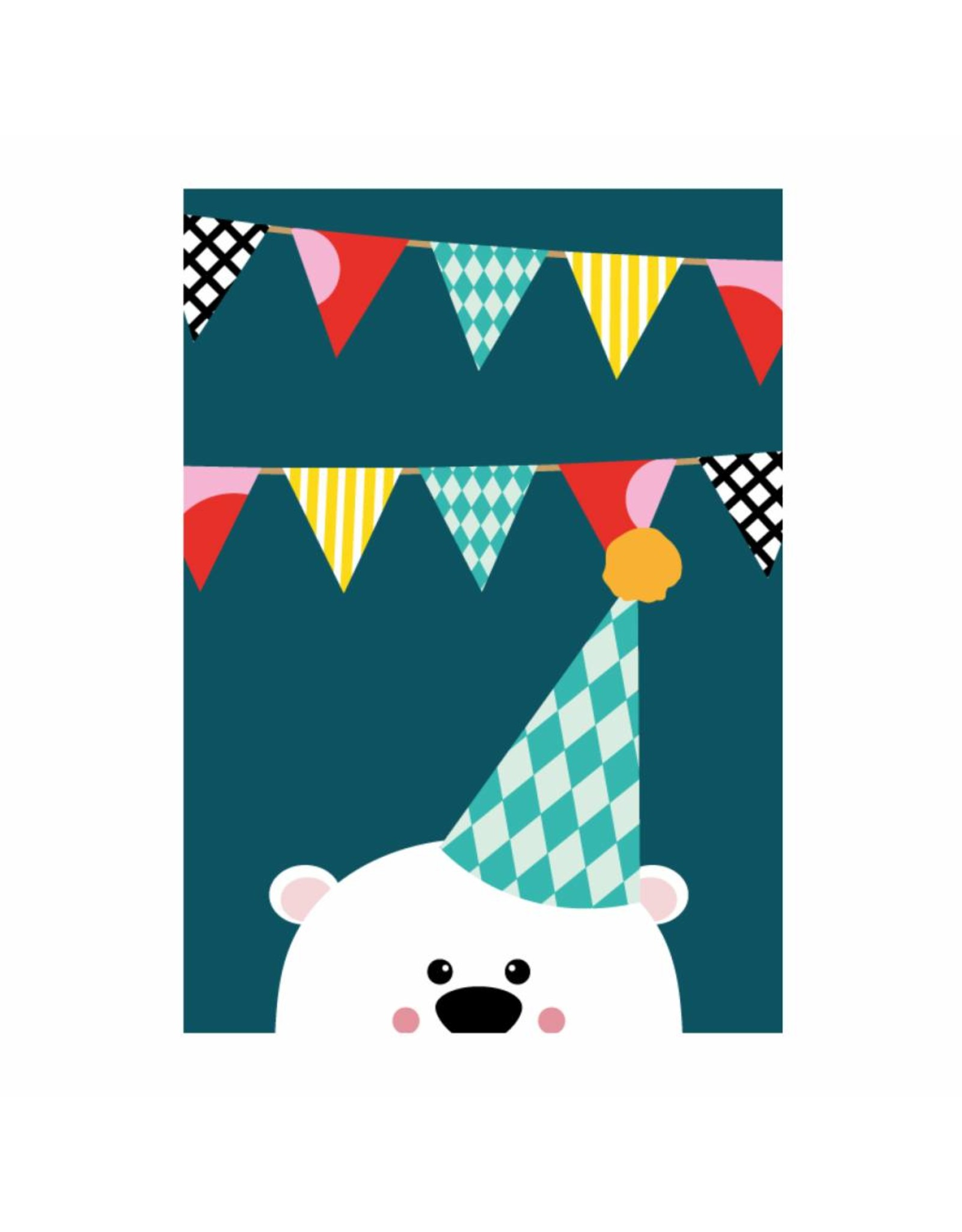 postkaart uitnodiging beer