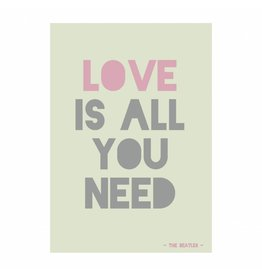 postkaart Love is all you need