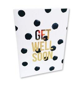 Kaart met enveloppe Get well soon