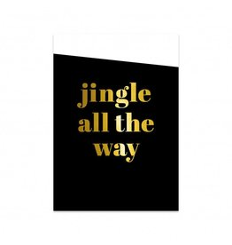 postkaart Kerst Jingle all the way