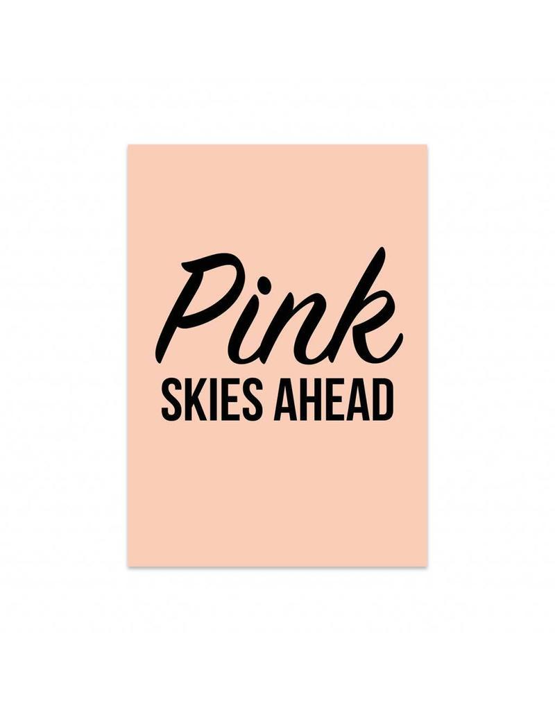 postkaart Pink Skies ahead