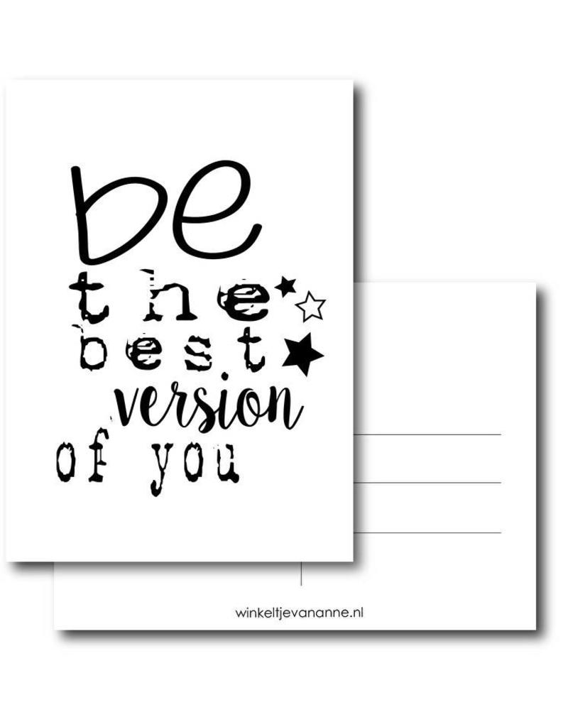 Postkaart Be the best version of you
