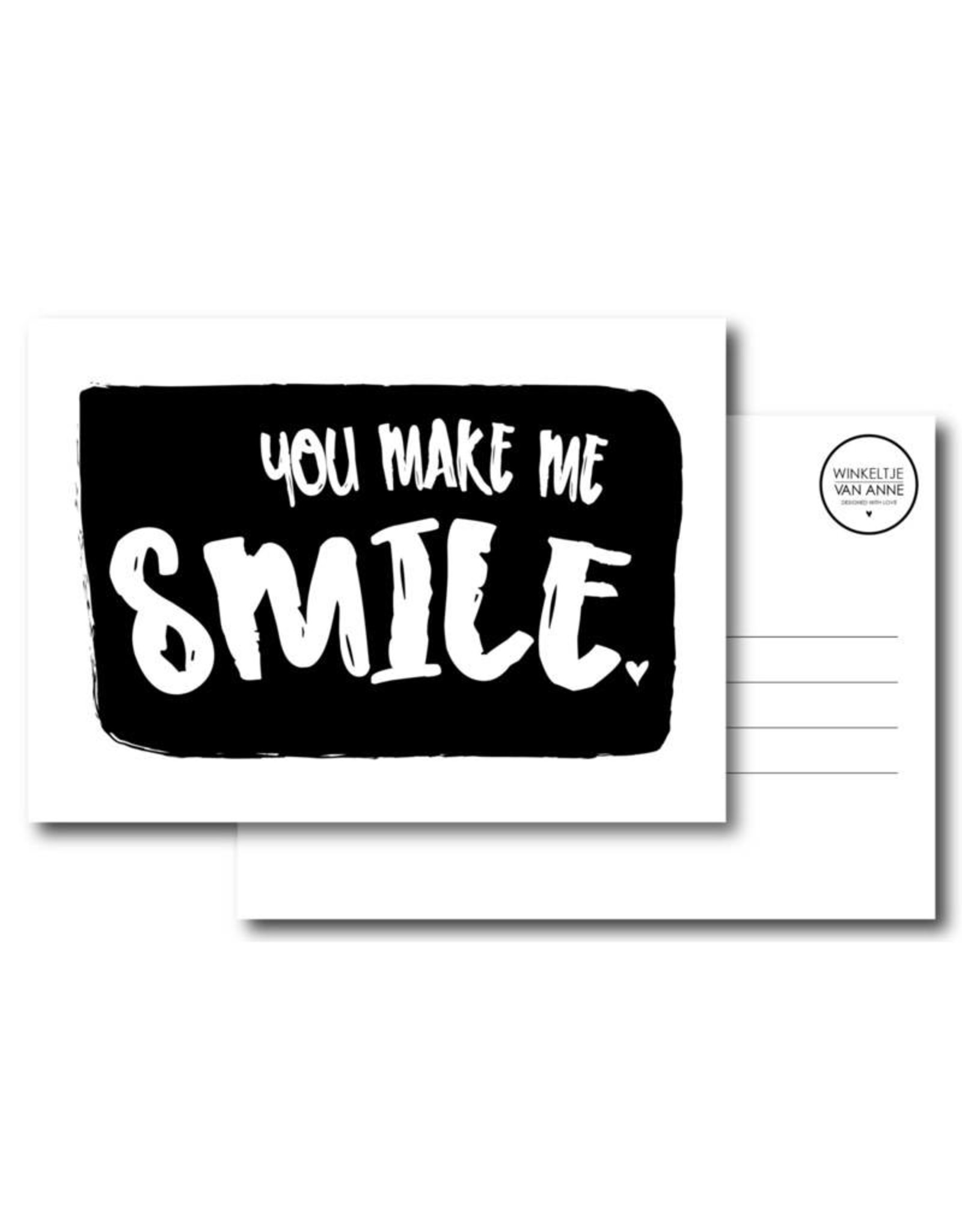 Postkaart You make me smile