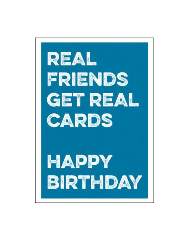 Postkaart Real friends get real cards