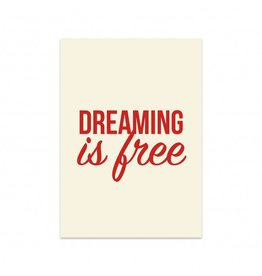 Postkaart Dreaming is free