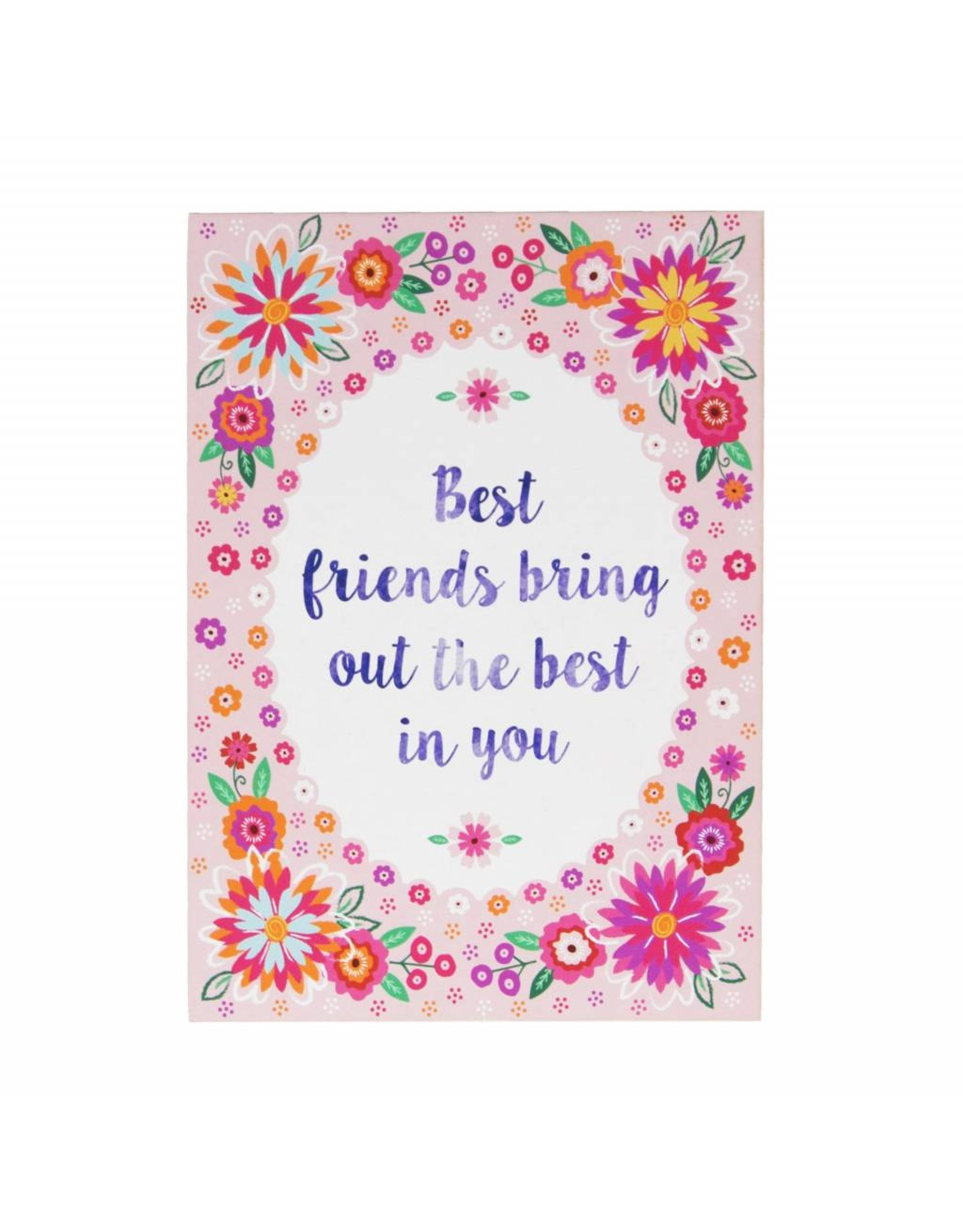 Postkaart Best friends bring out the best in you