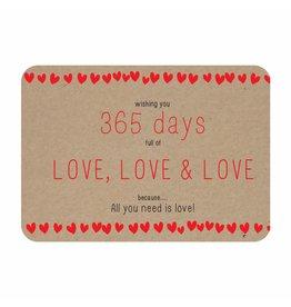 Postkaart Kerst 365 days full of love